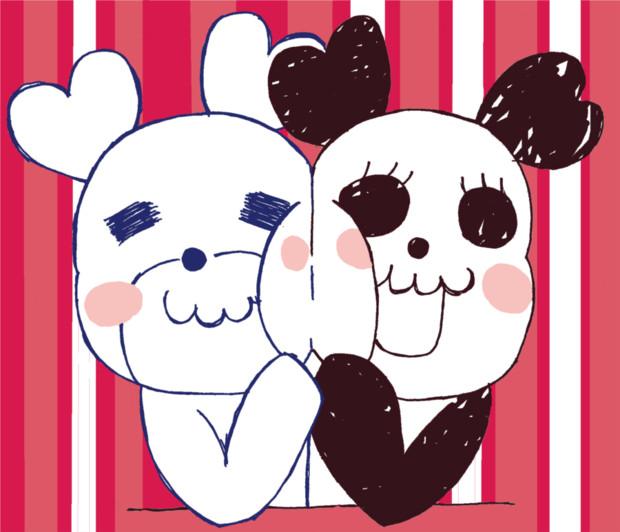Honeyworksのパンダちゃんとシロクマちゃん きすけ さんのイラスト