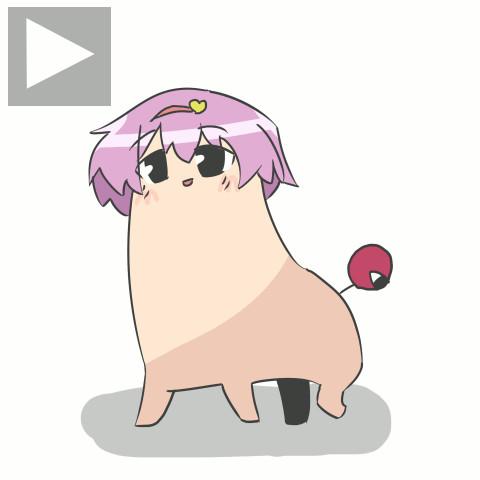 【GIFアニメ】あるくめっっっっちゃ可愛いさとりん
