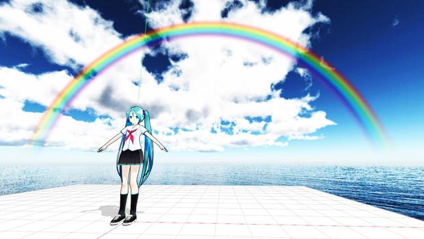 【MMDアクセサリ配布】虹 D9【透けます】