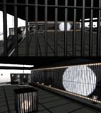 月と格子の和室