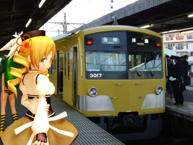 去り行く車輛(西武鉄道3000系)