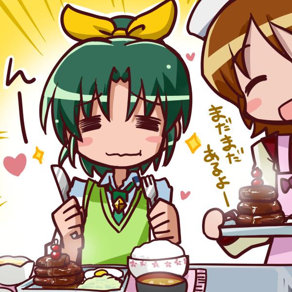 ゆうゆうの特製ハンバーグを食べるなおちゃん
