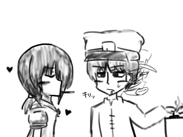 吹雪ちゃんと俺氏提督のポッキー☆KISS