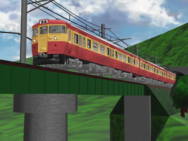 115系・国鉄新潟色(ウソ電)