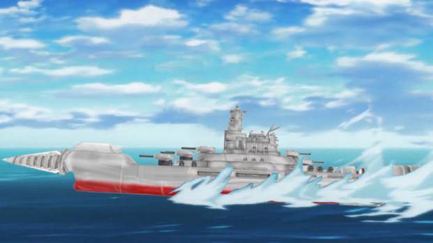 超巨大ドリル戦艦アラハバキ接近!!