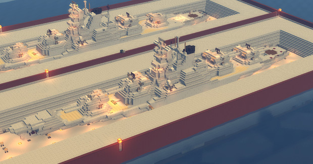 Minecraft】美濃型巡洋戦艦(第一次改修型)【HAC艦】 / akitsu1910 さん ...