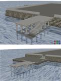 コンクリート製の桟橋 配布です
