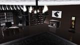 書斎暖炉部屋