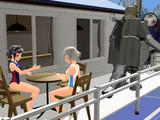 南の島の喫茶店にて