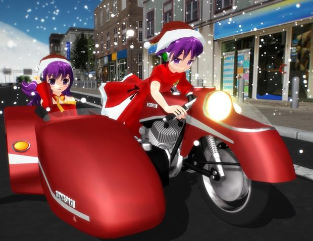 サンタが街にやって来た?