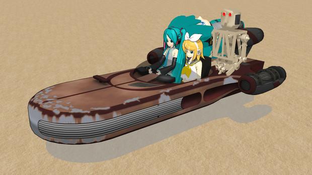 【MMDモデル配布】砂漠を浮いて走る車