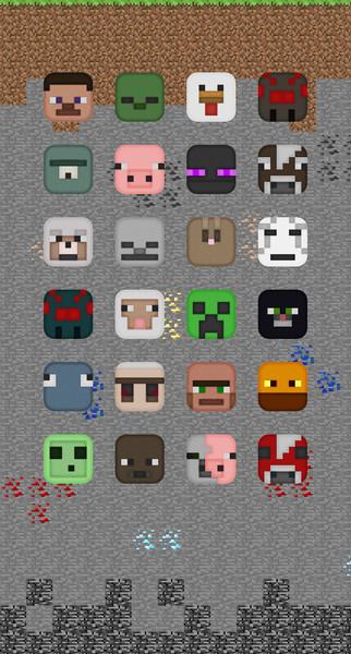 iPhone6用オリジナルマイクラ壁紙