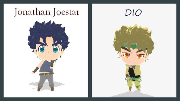 【MMD】ちみジョナサンとちみDIO【ジョジョ】
