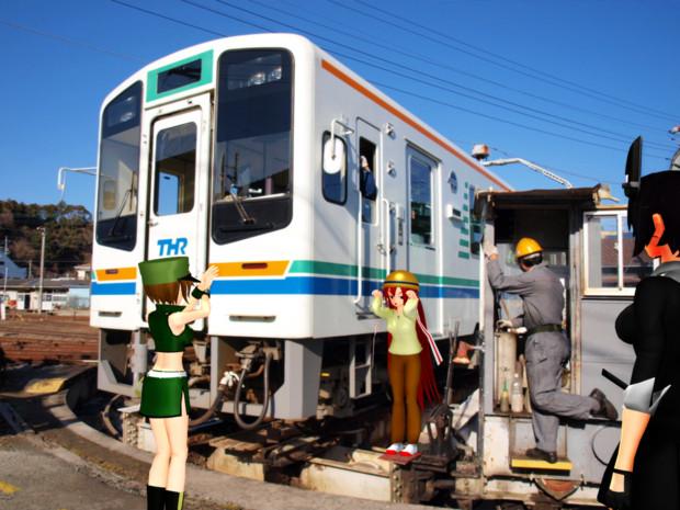 天竜二俣駅にて