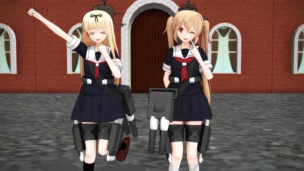 【MMD艦これ】夕立ちゃんと村雨嬢