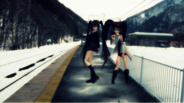 土合駅にて2014-12