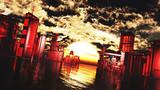 【MMDステージ配布】ルーシーの夕焼け L2【スカイドーム】