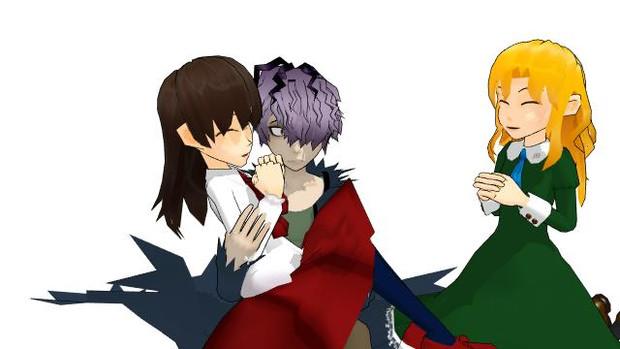【ギャリー、イヴ、メアリー】私もお姫様抱っこして!【MMDイラスト】