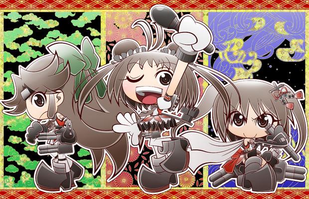 川内三姉妹を描く