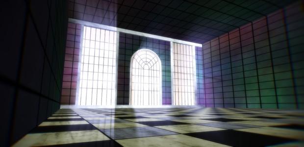 【MMDステージ配布】ケージ風柵のある部屋