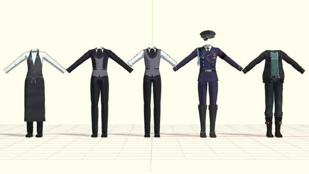 【MMD】男性用衣装配布