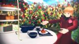 薔薇園でティータイム