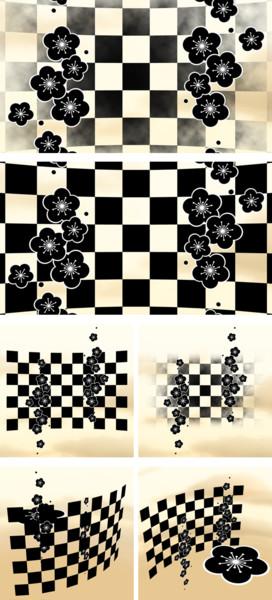 10_梅と市松模様のステージ_ver1.1
