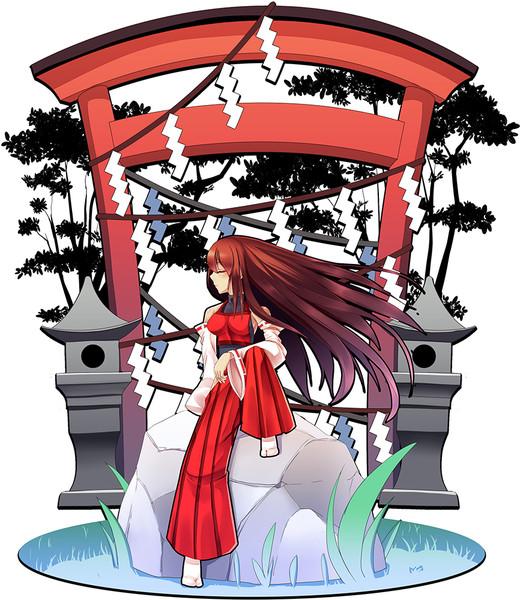 神社の先代巫女 Zob さんのイラスト ニコニコ静画 イラスト