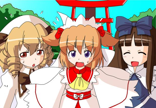 慌てる光の三妖精
