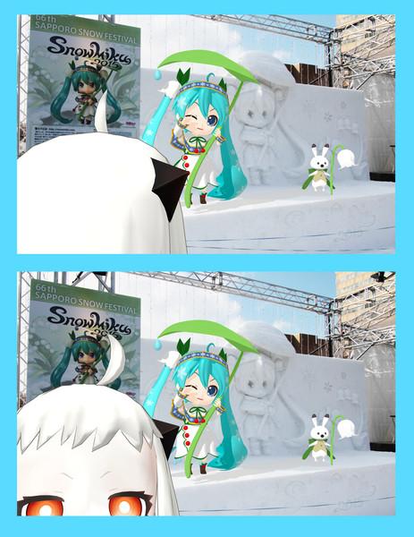 【雪ミク2015】さっぽろ雪まつり2015【撮影会】