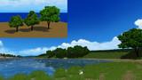【MMD】モブ樹木を3種類【アクセサリ配布】