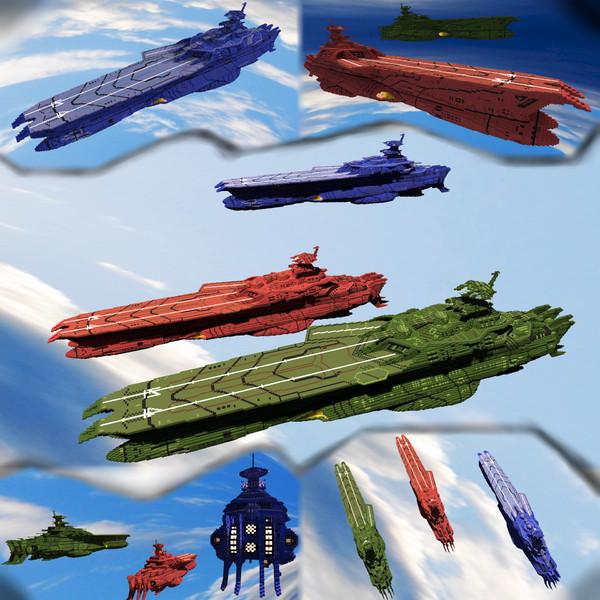 【Minecraft】ゲルバデス級航宙戦闘母艦