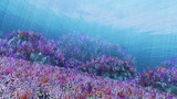 【MMDステージ配布】珊瑚礁 Q1【水中スカイドーム】