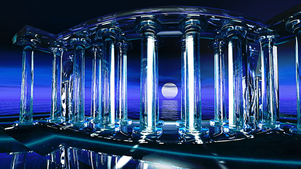 【MMDステージ配布】ダイヤの神殿 Q2【AL対応スカイドーム】
