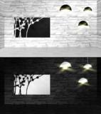 白黒パネル部屋