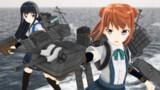 【MMDモデル配布】駆逐艦 満潮 Ver1【MMD艦これ】