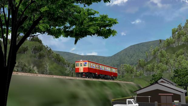 山里の列車
