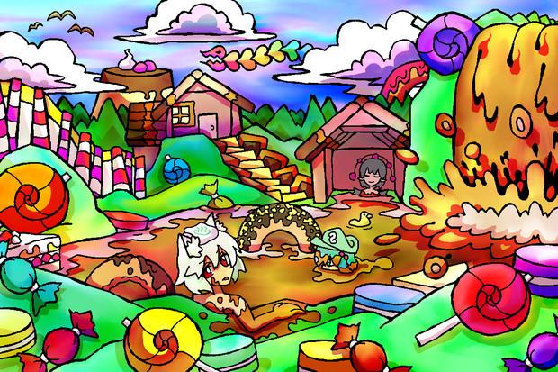 お菓子の温泉地