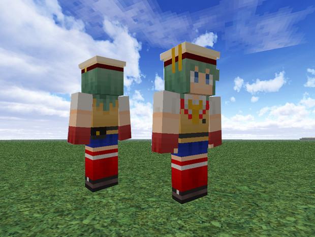 【Minecraft】 GE2 エリナ 【旧スキン晒し】