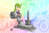 【MMD艦これ】三式爆雷投射機妖精ver1.0