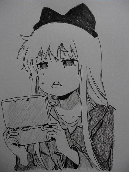 ゆるゆり13巻の京子を模写りました