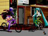 ミニスカで自転車は乗るもんじゃないw