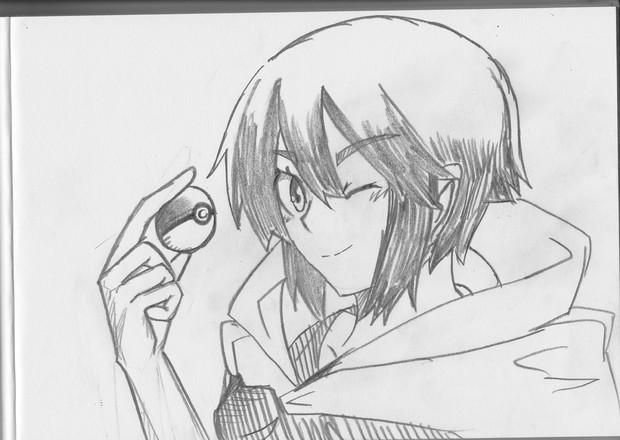 2B鉛筆で、ヒガナ描いてみた