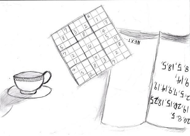 画力ゼロが、作ったパズルでイラストを描いた①