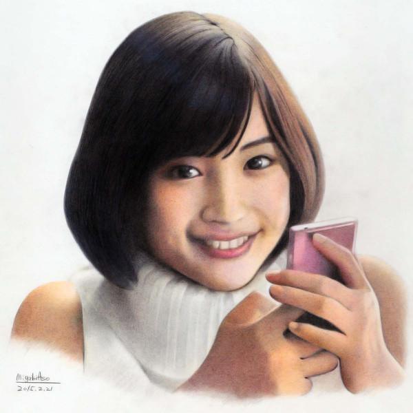 色鉛筆画広瀬すず みやび さんのイラスト ニコニコ静画 イラスト