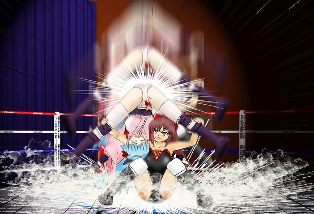 雪女 VS サンダー龍子