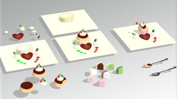 ホワイトデーケーキ【MMDアクセサリ配布】