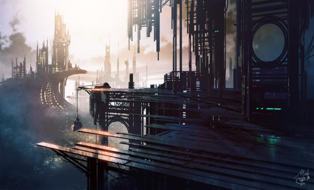 【背景ワンドロ】未来都市