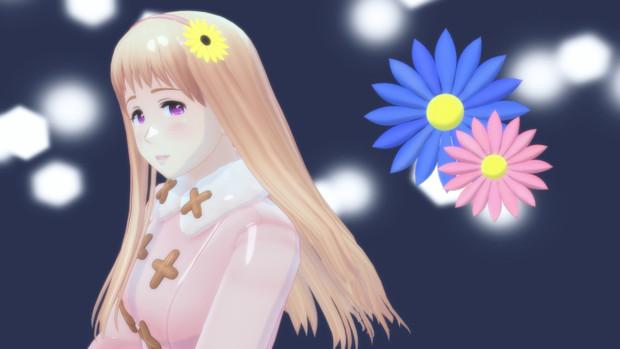 【MMDアクセサリ配布】花飾り