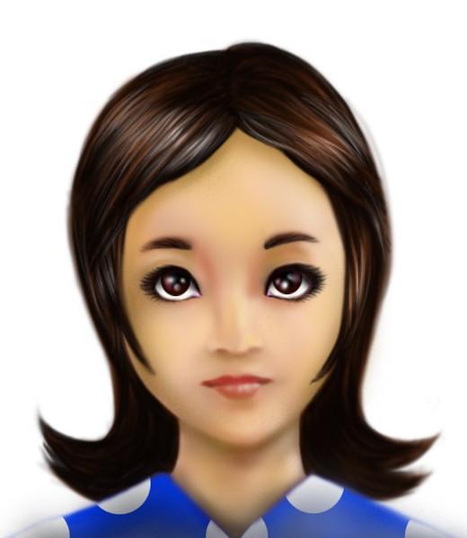 【描いてみた】「テクノアルド」の松村みゆきの顔